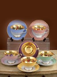 Set za čaj iz porcelana za 12 oseb Frutta Oro