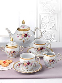 Set za čaj iz porcelana za 12 oseb Matilde