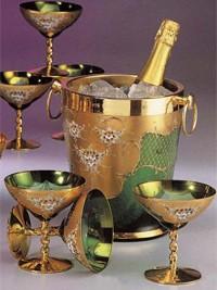 Set za šampanjec zeleni