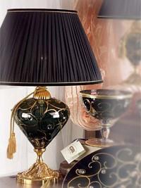 Namizna svetilka z okroglim pecljem velika Alulim