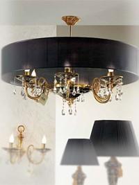 Luster s šestimi svetili z veliko kapo Alulim