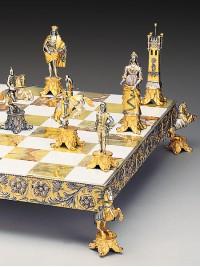 Luksuzni šah - DRUŽINA MEDICI PROTI DRUŽINI PAZZI / velik